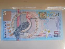 Suriname 5 gulden 2000 UNC  Nagyon Ritka!