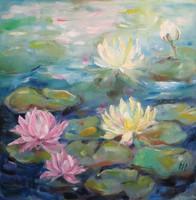 """Magony Henriett """"Vízililiomok"""" című festménye"""