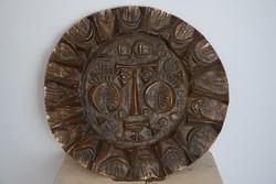 Kopcsányi Ottó ötvös által készített bronz fali dísz