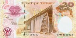 Pápua Új-Guinea 20 kina emlékbankjegy 2008 UNC
