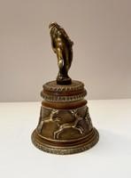 Antik bronz kézi csengő. Káprázatos műtárgy!