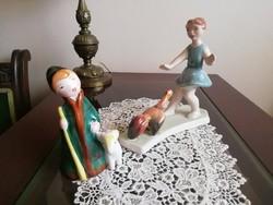 Bodrogkeresztúri kerámia figurák egyben