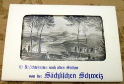 10 NDK Szász-Svájc képeslap képes levelezőlap postatiszta