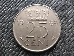 Hollandia I. Julianna (1948-1980) 25 Cent 1969 (id30948)