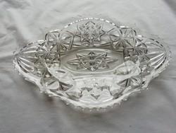 Retro üveg tál, asztalközép