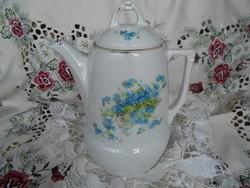 Antik nefelejcses teáskanna
