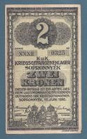 2 Korona Sopronnyék (Sop - 6b )   EF Római Sorozatszám