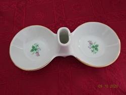 Bolgár porcelán, rózsa mintás fűszertartó, hossza 17 cm.