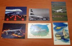 Repülőgép légitársaság régebbi képeslap levelezőlap