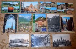 12 osztrák képeslap képes levelezőlap futott