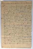 Bezerédi családdal kapcsolatos irat 1790-es évekből