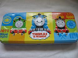 Eredeti Thomas & Friend mozdonyos fém doboz, tolltartó 2005