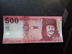 Legritkább új 500 Forint: 2018 500 Forint, EL betűjel, Ropogós