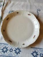 Zsolnay mezei virágmintás süteményes tál 29 cm