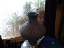 Régi 70 es évek eleje Mezőtúri kerámia padló váza. nagy méret és nehéz