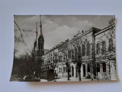 Régi képeslap 1960 körül Békéscsaba Szent István tér