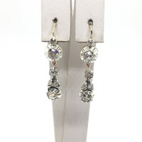 1895. Szecessziós Fülbevaló Gyémántokkal