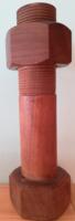 Nagyméretű retro fa borsdaráló, borsszóró