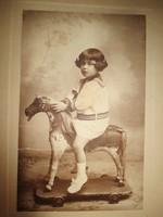 Antik művészi fotó, gyermekfotó 1920-ból, Goszleth István és fia műterméből - 2.