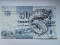 Feröer szigetek 50 krónur 2011 UNC
