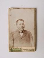 Régi vintage fotó férfi portré Kemény