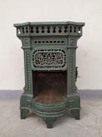 Antik vaskályha kis méretű öntöttvas öntött vas gáz kályha