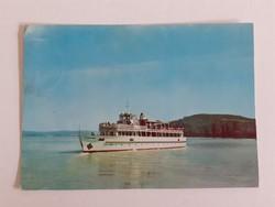 Retro képeslap 1972 Balaton hajó