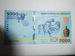 Burundi 5000 francs 2018 UNC