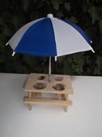 Fa - ÚJ -  FŰSZERTARTÓ ASZTALKA - 30 x 24 cm - textil ernyővel