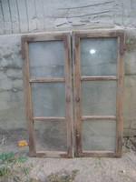 Régi osztott ablak szárny - két darab