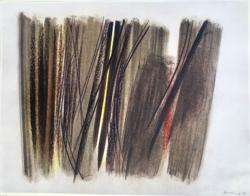 Hans Hartung limitált kiadású litográfia (1961-ben készült)