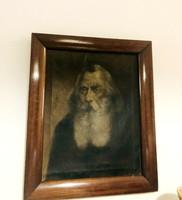 Barabás Miklós 19-dik századi olaj vászon festmény !