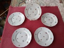 5 db Zsolnay süteményes tányér