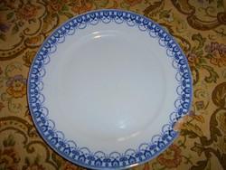 Hüttl Tivadar jelzésével antik fajansz cauldon  tányér 26 cm  SÉRÜLT