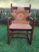 Bőr ülőfelületű szék