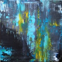 """""""Filtration I."""" Modern abstract painting is a unique, original work! Signed, direct from the artist!"""