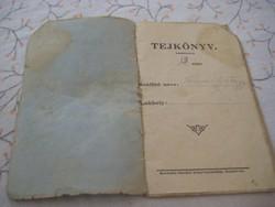""""""" Tej könyv  """"   az  1900 as évek  elejéről"""