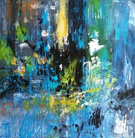 """""""Filtration II"""" 40X40cm modern abstract painting signed, direct from the artist!"""