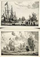 Reinier Zeemann: Ansicht eines Hafens / Marine (1889-ben készített nyomat)