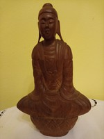 20 cm-es Keleti fa figura, Buddha