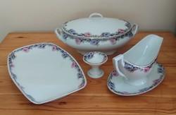 Régi, antik, 4 részes Pirkenhammer (Csehszlovák) porcelán étkészlet eladó