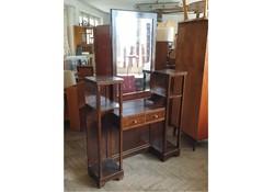 Régi art deco tükrös fiókos előszoba bútor polc előszobafal