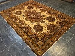 Régi gyapjú PERZSA szőnyeg - Tisztítva, 200 x 283 cm