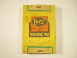 Retro FORTE foto papír doboz - Vác Forte gyárból - 1960-1970-es évekből