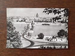 Régi képeslap Budapest Lánchíd