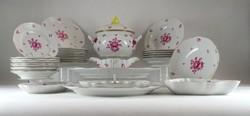 0T974 Antik 35 darabos Herendi lila Apponyi porcelán étkészlet 1939