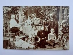 Régi fotó vintage csoportkép fénykép