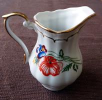 15 darabos gyönyörű pipacsos  kávés porcelán készlet