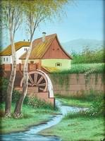 1B842 Magyar festő XX. század : Vízimalom