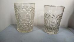 Két formába fújt régesrégi pohár